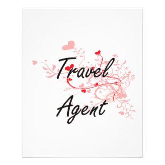 Travel Agent Artistic Job Design with Hearts 11.5 Cm X 14 Cm Flyer