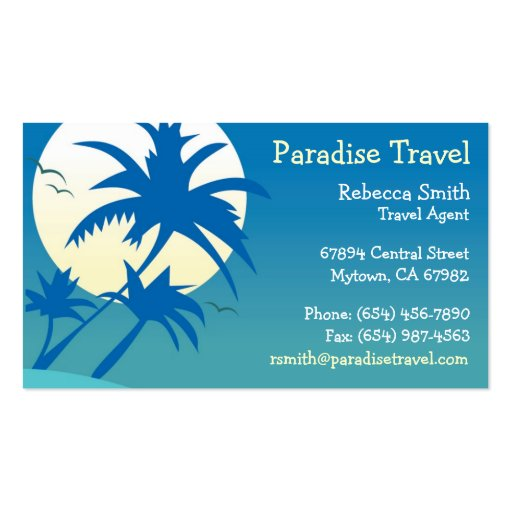 Travel agent business card zazzle for Travel agent business card
