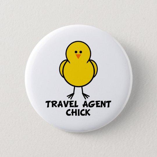 Travel Agent Chick 6 Cm Round Badge