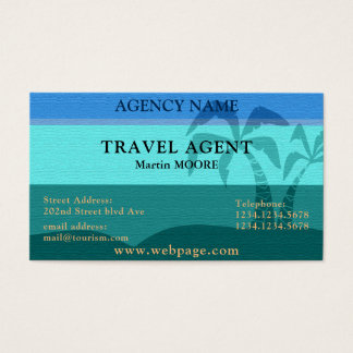 Travel agent tourism professional exotic cover business card