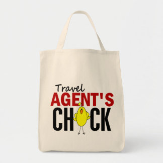 Travel Agent's Chick Grocery Tote Bag