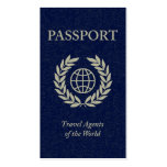 travel agents passport pack of standard business cards