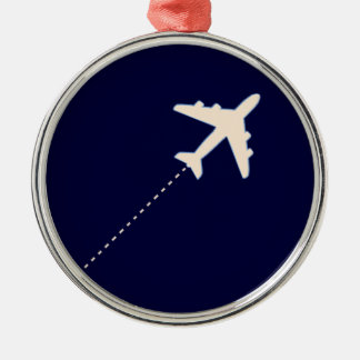 travel airplane with dotted line christmas ornament