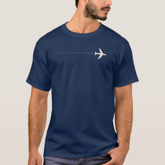 travel airplane with dotted line T-Shirt