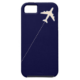 travel airplane with dotted line tough iPhone 5 case