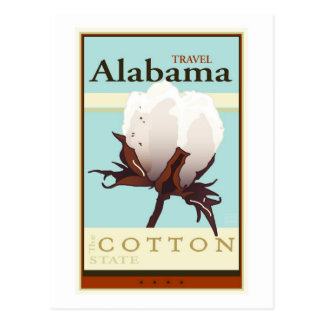 Travel Alabama Postcard