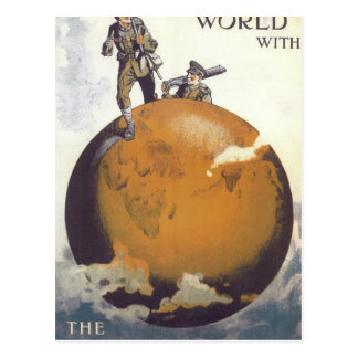 Travel all over the world with_Propaganda Poster Postcard