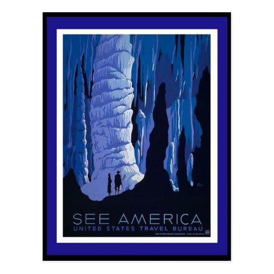 Travel America - WPA Postcard