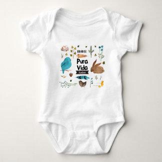 Travel and explore watercolour baby bodysuit