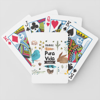 Travel and explore watercolour bicycle playing cards
