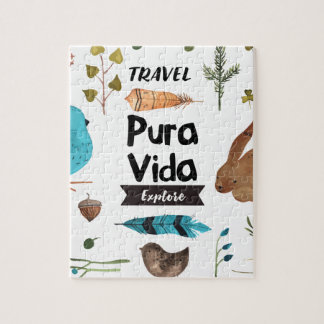 Travel and explore watercolour jigsaw puzzle