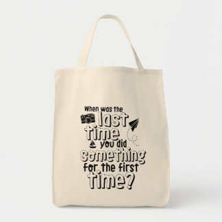 Travel and Life Adventure Quote Grocery Tote Bag