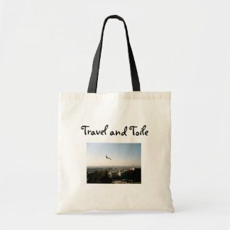 Travel and Toile Tote Budget Tote Bag