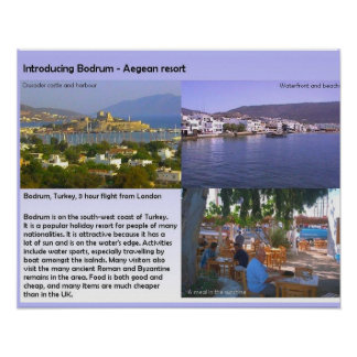 Travel and tourism Bodrum Aegean resort Posters