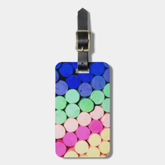 Travel Artist Chalk Pastel Circles Luggage Tag