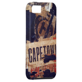 Travel baggage Stickers Tags Labels - Grunge Tex iPhone 5 Case