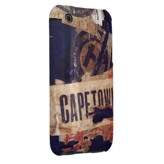 Travel baggage Stickers Tags & Labels - Grunge Tex Case-Mate iPhone 3 Case