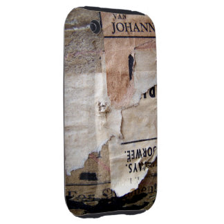 Travel baggage Stickers Tags & Labels - Grunge Tex iPhone 3 Tough Case