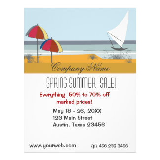 Travel Beach Ocean Summer Sail Boat Flyer