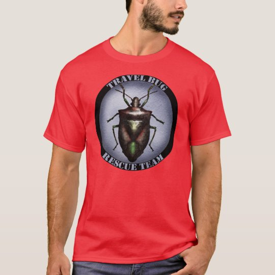 Travel bug rescue team t-shirt