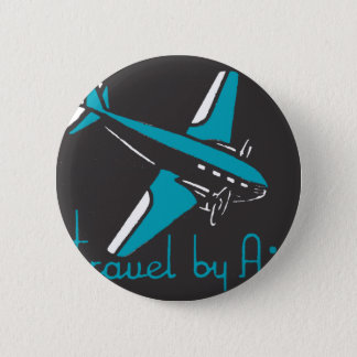 Travel By Air 6 Cm Round Badge