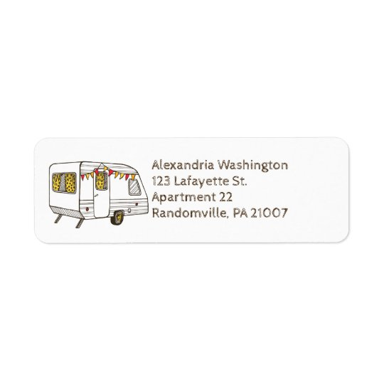 Travel Camper Return Address Labels