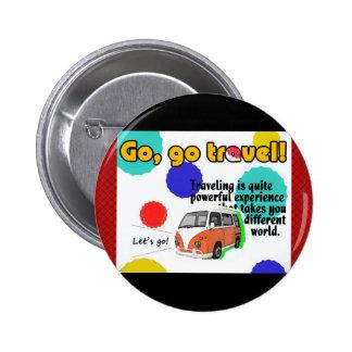 Travel Car Designed 6 Cm Round Badge
