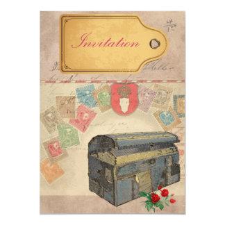 "Travel Case Invites 5"" X 7"" Invitation Card"
