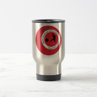 Travel Coffee Mug - Kickball Logo