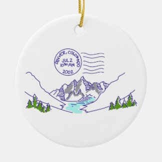 Travel Colorado Christmas Ornament