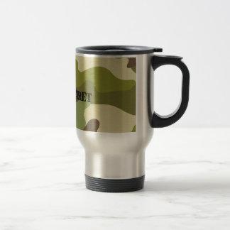 Travel/Commuter Mug top secret camouflage military