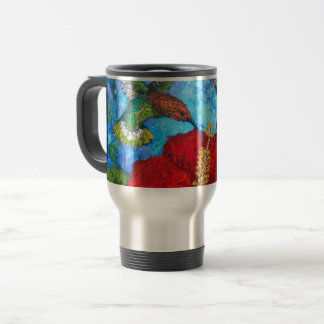Travel Commuter Mug With Hummingbirds Painting
