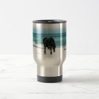 Travel commuter spillproof mug, horse, equestrian
