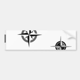 Travel Compass & Map Symbols Bumper Sticker