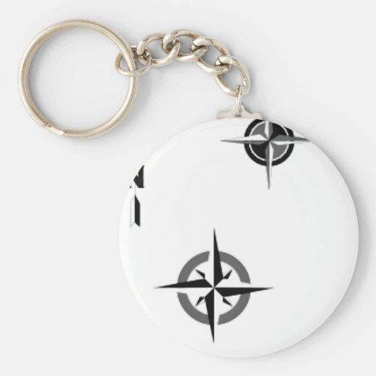 Travel Compass & Map Symbols Key Ring
