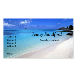 Travel consultant beach business card template
