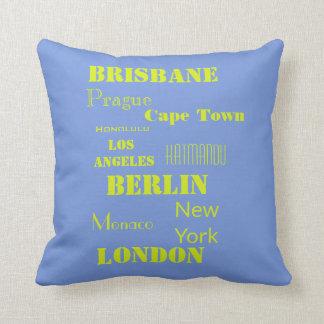 Travel destination personal  wish list cushion
