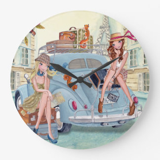 Travel girls in Paris - Clock