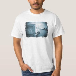 Travel go blue landscape dirt road sky ute T-Shirt