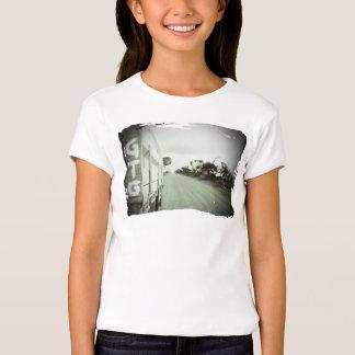 Travel GTG green and black landscape dirt road sky T-Shirt