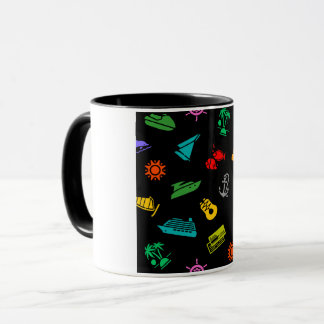 Travel Icons Mug