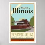Travel Illinois Poster
