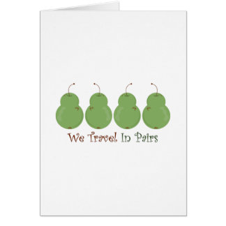 Travel In Pairs Greeting Card