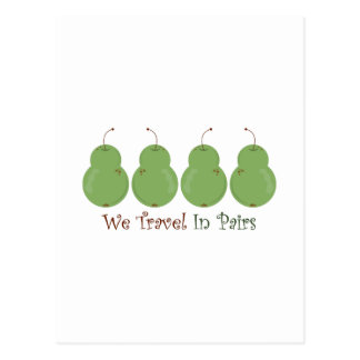 Travel In Pairs Post Cards