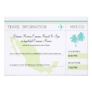 Travel Information Boarding Pass TO MEXICO Personalized Announcement