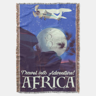 Travel Into Adventure! Africa Throw Blanket
