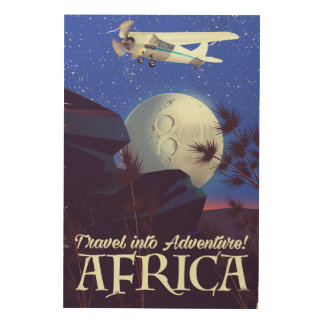 Travel Into Adventure! Africa Wood Wall Decor