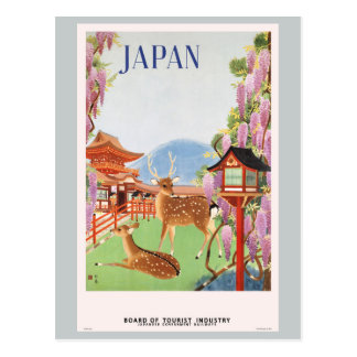 Travel Japan by Train Vintage Postcard