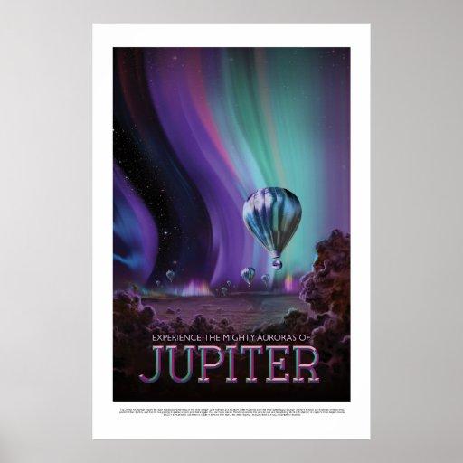 Travel Jupiter See the Auroras NASA Poster