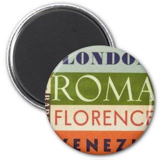 Travel Labels Magnet